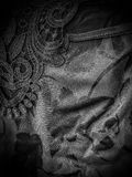Black silk and lace. A close-up of black silk and lace Stock Images