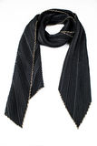 Black silk pleated scarf Royalty Free Stock Images