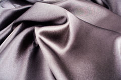 Black silk satin Stock Photo