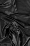 Black silk satin background Royalty Free Stock Photo