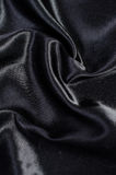 Black silk satin background Stock Image