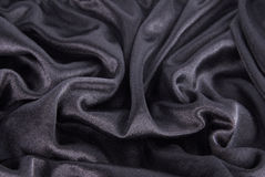 Black silk texture Royalty Free Stock Photos