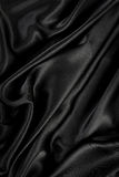 Black silk / velvet cloth Royalty Free Stock Photography