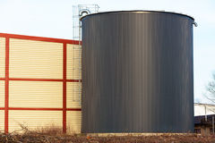 Black silo Stock Photo