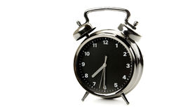 Black and silver alarm clock Royalty Free Stock Photography