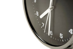 Black and silver alarm clock Royalty Free Stock Photos