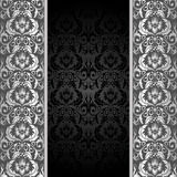 Black and silver background Royalty Free Stock Photos