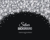 Black and Silver Banner, Greeting Card Royalty Free Stock Images