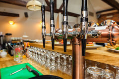 Black and silver beer taps Stock Image