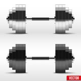 Black and silver classic power dumbbells Stock Image