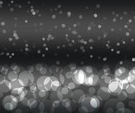 Black silver color bokeh. Night effect, beautifull background Royalty Free Stock Photo