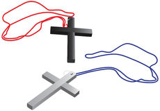 Black and silver cross Stock Images