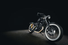 Black and Silver Cruiser Motorcycle Royalty Free Stock Photo