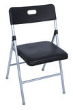 Black And Silver Folding Chair Over White Royalty Free Stock Images