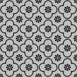 Black on silver club and circle seamless repeat pattern background royalty free illustration