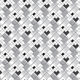 Black silver and linear diamond shape vertical grouping diagonal. Striped pattern background vector illustration image Royalty Free Stock Images
