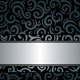 Black & silver luxury vintage wallpaper background Royalty Free Stock Photos