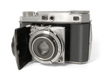 Black and Silver Mirrorless Camera Stock Photo