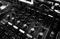 Black and Silver Mixing Board Royalty Free Stock Images