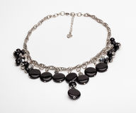 Black and silver necklace Royalty Free Stock Photography