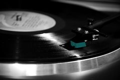 Black and Silver Turntable Stock Photography