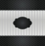 Black and silver vintage invitation cover Stock Photos