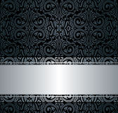 Black  & silver vintage wallpaper Royalty Free Stock Photo