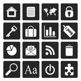 Black Simple Business and Internet Icons royalty free illustration