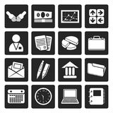 Black Simple Business and office icons. Vector Icon Set Stock Photography