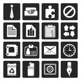 Black Simple Business and Office Icons. Vector Icon Set Stock Photo