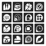 Black Simple Business and Office Icons. Vector icon set Stock Image