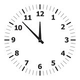 Black simple clock Royalty Free Stock Photography