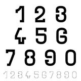 Black simple font numbers Stock Photos