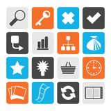 Black Simple Internet and Web Site Icons. Vector Icon Set