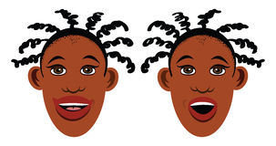 Black sisters Stock Image