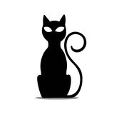 Black Sitting Cat Royalty Free Stock Images