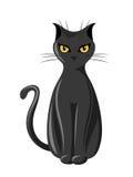 Black sitting cat. Stock Image