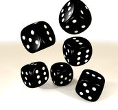 Black six dice Royalty Free Stock Image