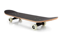 Black skate board on a white background