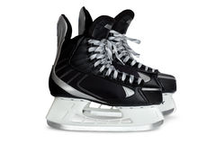 Black skates isolated on white Stock Image