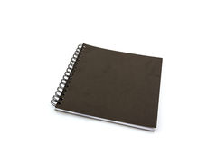 Black sketch book on white background. Royalty Free Stock Photo