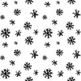 Black sketch greeting snow pattern Stock Images