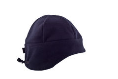 Black ski cap isolated Stock Photo