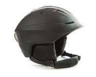 The black ski helmet. Royalty Free Stock Photography