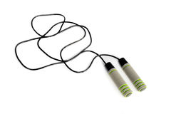 Black skipping rope Royalty Free Stock Images