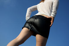 Black skirt Royalty Free Stock Photography