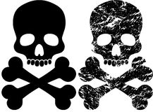 Black skull Royalty Free Stock Photos