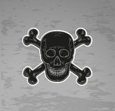 Black skull and bones Stock Photos