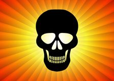 Black Skull Stock Photography