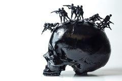 Black Skull Mohawk Stock Images